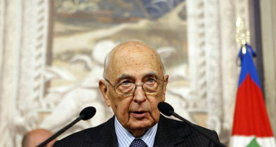 El presidente de Italia, Giorgio Napolitano, durante un encuentro con la prensa el sábado en el palacio del Quirinal