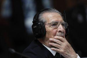 Efraín Ríos Montt, durante el juicio.