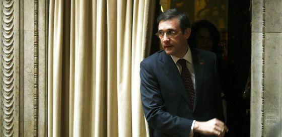 El primer ministro portugués, Pedro Passos Coelho, este viernes en el Parlamento.