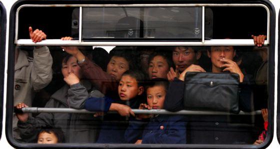 Un autobús de Pyongyang.