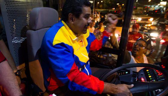 Maduro en un acto de campaña en Puerto Ordaz este sábado.