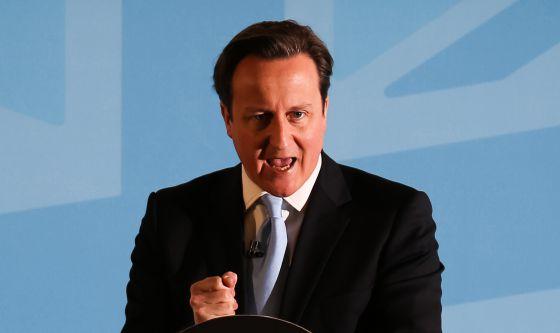 David Cameron pronuncia un discurso en Ipswich, el pasado 25 de marzo.