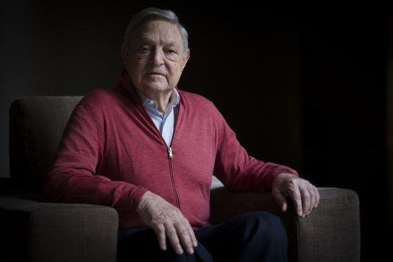 El inversor George Soros, el pasado jueves en un hotel de Barcelona