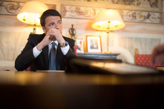 El alcalde de Florencia y candidato en las últimas primarias del Partido Democrático, Matteo Renzi.