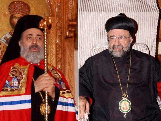 Los dos obispos secuestrados. A la izquierda, Boulos Yazigi. A la derecha, Yuhanna Ibrahim.