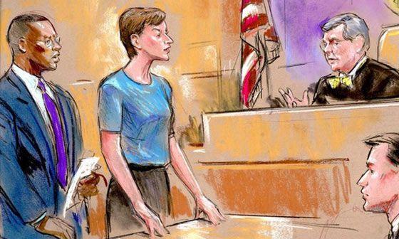 Montes, durante el juicio.