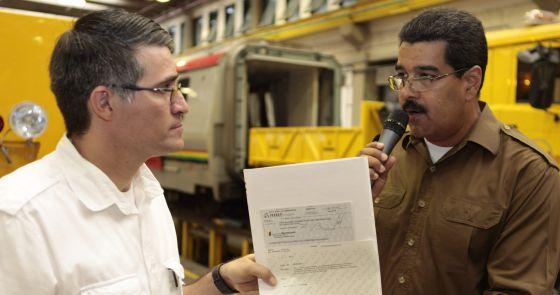 Maduro en una asamblea de trabajadores del metro este vienes.