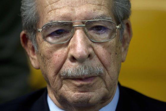 El exdictador guatemalteco José Efraín Ríos Montt este viernes.