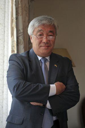 El ministro de Exteriores Idrissov esta semana en Madrid.