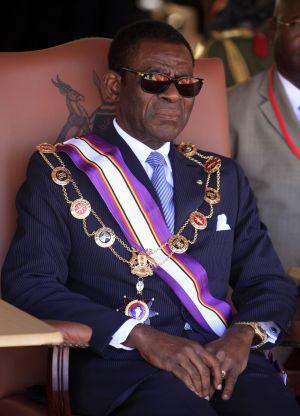 El presidente de Guinea ecuatorial Teodoro Obian Ngema, en una inagen de enero de 2012 durante una visita a Uganda