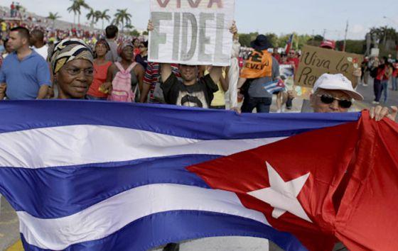 Manifestación del Primero de Mayo en Cuba.