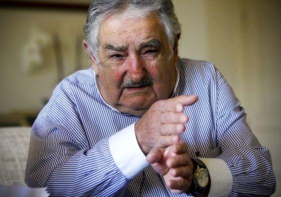 El presidente José Mujica, durante la entrevista.