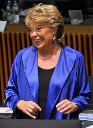 La comisaria europea de Justicia, Viviane Reding.