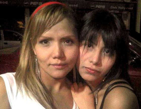 Gabriela Téllez con su hija Danae.