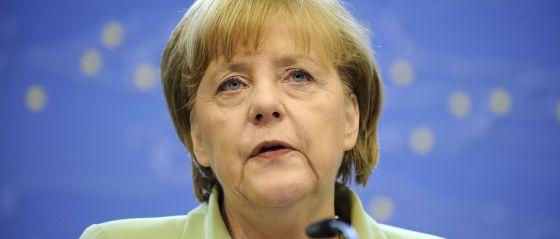 Conferencia de prensa de Merkel tras el Consejo europeo.