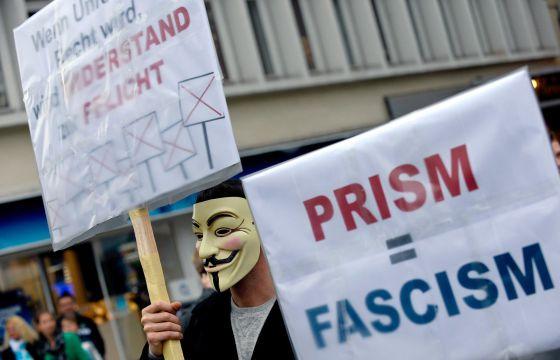 Protesta contra el espionaje en Hannover.