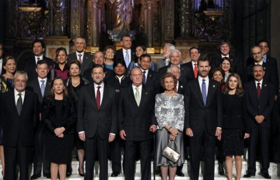 Los asistentes de la XXII Cumbre de Jefes de Estado y de Gobierno, en Cadiz