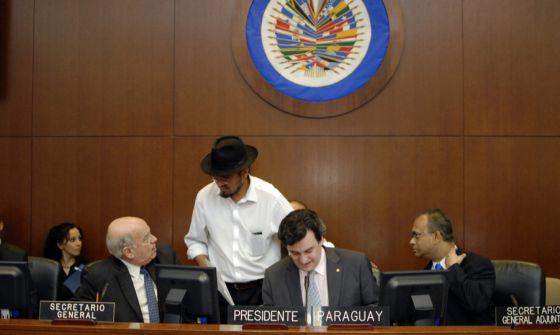 Un momento de la reunión extraordinaria del Consejo Permanente de la OEA.