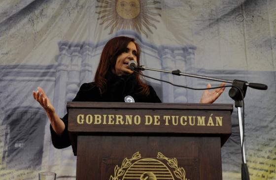 La presidenta de Argentina, Cristina Fernandez en Tucumán