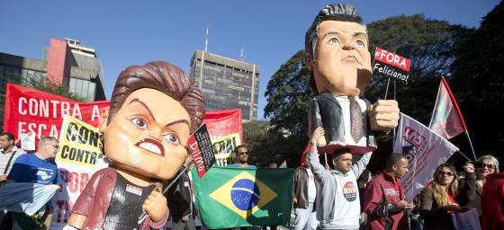 Una manifestación en Sao Paulo este jueves.