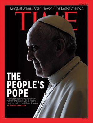 """Portada de la revista Time, dedicada a Francisco, """"el Papa del Pueblo"""""""