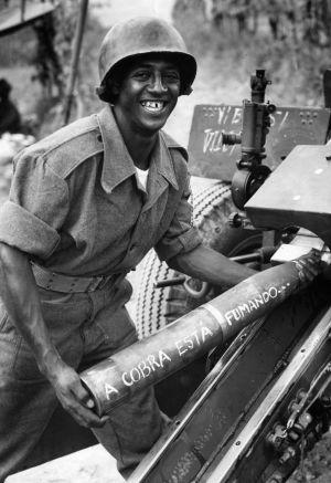 Soldado brasileño en el frente italiano de la Segunda Guerra Mundial.