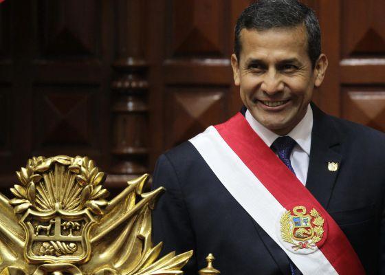 El presidente peruano, Ollanta Humala, acude a ofrecer su informe anual .