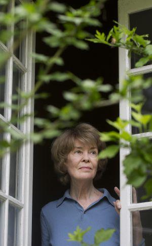 Susan George, fotografiada en su vivienda.