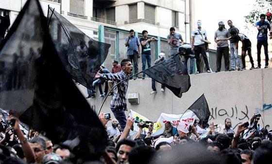 Protestas frente a la Embajada de EE UU en Egipto en septiembre de 2012.