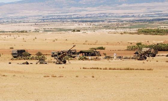 Fuerzas estacionadas en el monte Chaambi durante la ofensiva.
