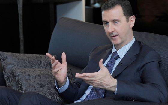 Bachar el Asad, durante la entrevista con 'Izvestia'.