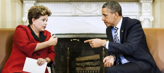 El presidente de EE UU, Barack Obama, y la presidenta de Brasil, Dilma Rousseff, en una foto de archivo.