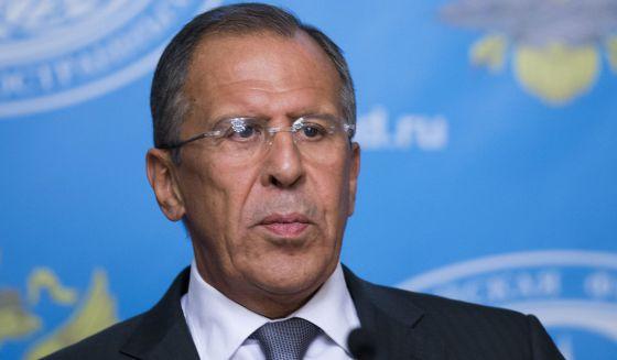 El ministro ruso de Exteriores, Gergey Lavrov, hoy en Moscú.