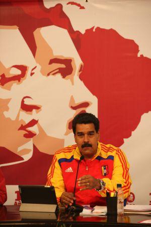 El presidente venezolano Nicolás Maduro en un mensaje televisivo.