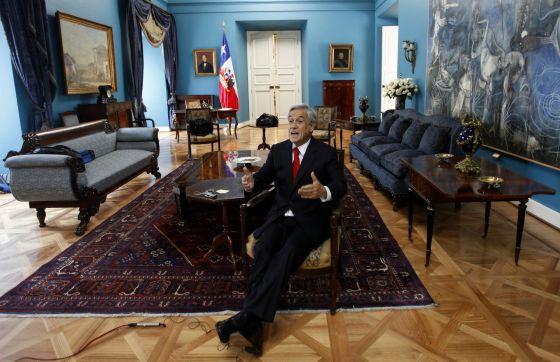 Sebastián Piñera, en el Palacio de La Moneda.