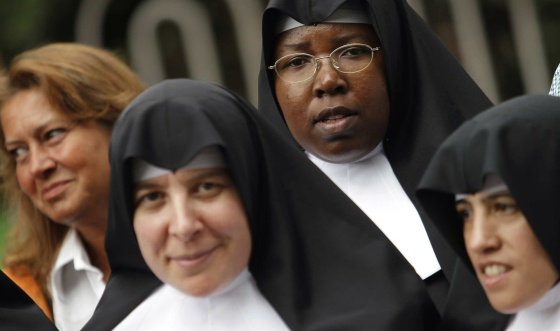 Nuns at a religious event in Madrid in 2011.