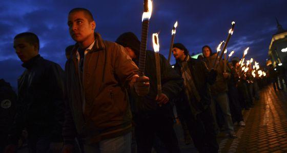 Marcha en Sofía en homenaje al fundador del movimiento ultraderechista.