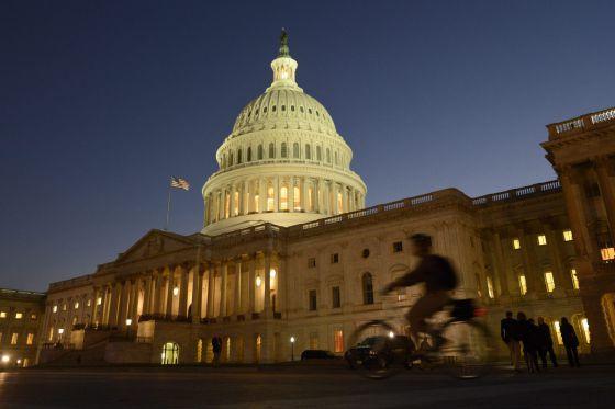 Vista del Capitolio esta madrugada.