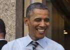 Obama, un paseo y un sandwich
