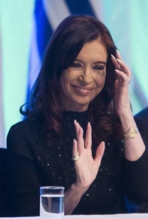 Cristina Fernández, el pasado 30 de septiembre.