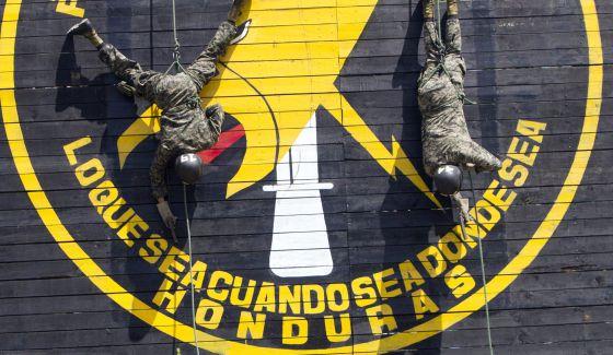 Soldados de la Policía Militar de Honduras.