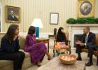 Obama y Malala, juntos en el Despacho Oval