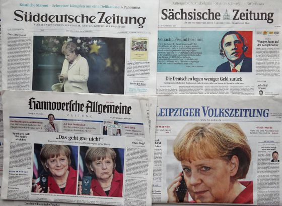 El espionaje a Merkel en la prensa alemana.