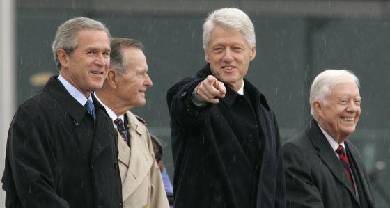 Los cuatro expresidentes vivos, en foto de archivo.