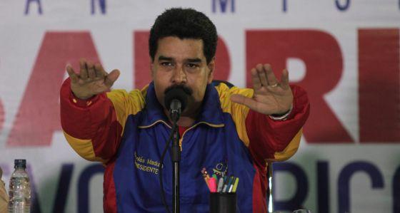 Nicolás Maduro, el lunes en Maracay (Venezuela).