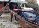 Los desplazamientos en Acción de Gracias, truncados por un temporal