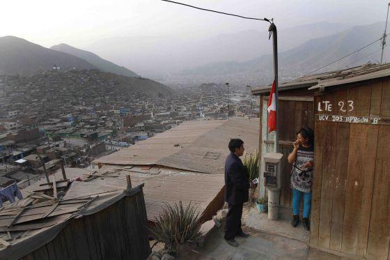 Una vista de la periferia de Lima.