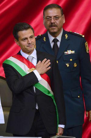Peña Nieto, en su toma de posesión, hace un año.