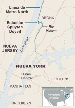 Al menos cuatro muertos y 63 heridos al descarrilar un tren en Nueva York