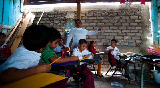 Una escuela en el Estado de Guerrero (México).